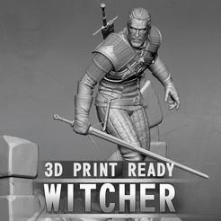 the-witcher-3d-model-stl.jpg Download STL file Witcher • 3D printer design, CrazyCraft