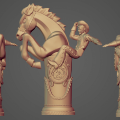Descargar archivo 3D gratis Bucking Bronco Free 3D print model, CrazyCraft