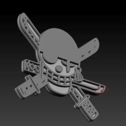 2.JPG.JPEG.png Download free STL file roronoa zoro logo • 3D printable model, SED