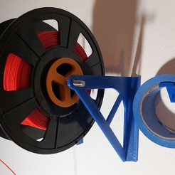 Download free 3D printing designs Filament wall mount, DB46