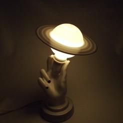 WhatsApp Image 2020-10-16 at 15.56.34 (4).jpeg Download STL file Hand Figure Saturn Night Lamp • Template to 3D print, gulermdeniz