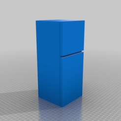 81b10ec778d38a42e49ad21055c846d5.png Download free STL file Barbie-scale Fridge-Freezer • Object to 3D print, terahurts