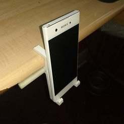 Download free 3D printing models Parametric mobile phone shelf clip, terahurts