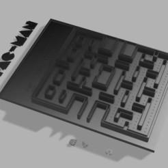 pac man tablero v3 v2.jpg Download STL file Pac-man screen • Design to 3D print, harleyean