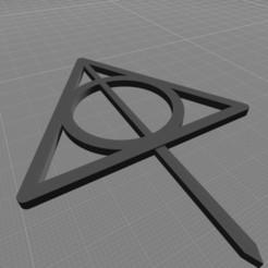 reliquia de la muerte pincho imagen.jpg Download STL file relics of death decoration • 3D printable template, harleyean