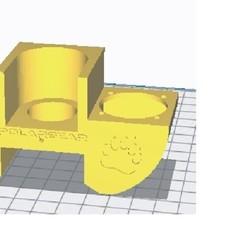 holder1.jpg Download OBJ file 22.3 mm j head fan holder • 3D print template, bulentd