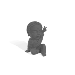 BudaPaz (grande).png Download free STL file Baby Buddha Peace • 3D printable design, Disagns1108