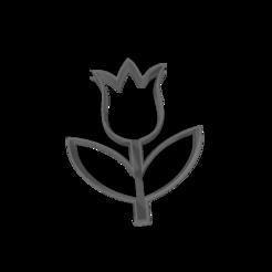 4.png Download free STL file Tulip cutter • 3D printer model, Disagns1108