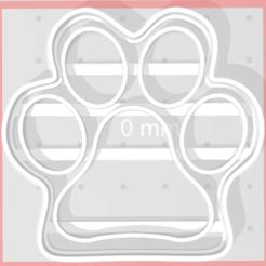 patita.png Télécharger fichier STL gratuit Coupeur de pattes de chien • Objet pour imprimante 3D, Disagns1108