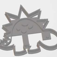 Dino 3.png Download free STL file Dinosaur cutter 3 • 3D print object, Disagns1108