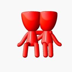 Maceta Dia de enamorados 2.jpg Télécharger fichier STL gratuit Pot robert planter Valentine 2 • Objet à imprimer en 3D, Disagns1108