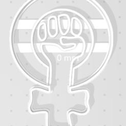 Descargar modelos 3D para imprimir Cortante Puño feminista, regipelli
