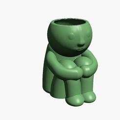 Agarrandose rodillas (con drenaje).jpg Télécharger fichier STL gratuit Pot à genoux (avec drainage) • Design à imprimer en 3D, Disagns1108