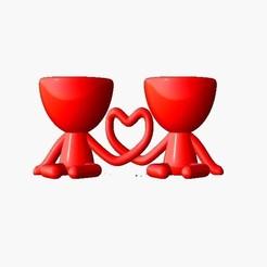 Maceta Dia de enamorados 1.jpg Télécharger fichier STL gratuit Pot robert planter Valentine 1 • Objet imprimable en 3D, Disagns1108