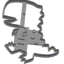 Foto dino 2.png Download free STL file Dinosaur cutter 2 • Template to 3D print, Disagns1108