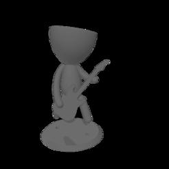 maceta -guitarra-rock.png Download free STL file Pot robert plant rockstar • 3D printable template, Disagns1108