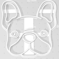 bulldog 2.png Download free STL file Bulldog french cutter • 3D print template, Disagns1108