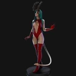 Download STL Demon Lady, AndreArt3d
