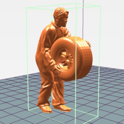 Mecanico rueda levantada perfil.png Download STL file Mechanic Wheel Raised Workshop • 3D print template, takarashu
