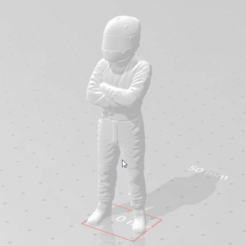 snapshot89 (2).png Download free STL file Cross-Armed Car and Motorcycle racing driver. • Model to 3D print, takarashu