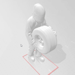 snapshot12.png Download free STL file Mechanic With Raised Wheel F1 with Helmet • 3D printing design, takarashu