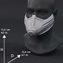 Download free 3D printing designs Wasp Mask, ayoubtouait