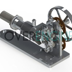 Download 3D printing models Stirling engine, overengineer