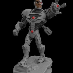 Cyborg.jpg Download STL file Cyborg • Template to 3D print, Splunjohnny