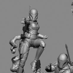 mando1.png Download STL file Mandalorian 3d Printable Diorama • 3D printable model, KcStudio