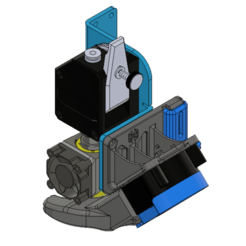 Download free 3D printing models ARTILLERY SIDEWINDER 46º Dragon or E3D V6 - 4020 FAN DUCT + CFD + .STP, JLDesigns3D