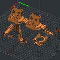 Download 3D printer designs SW X1 4020 Fan Duct Mount Upgrade Parts, JLDesigns3D