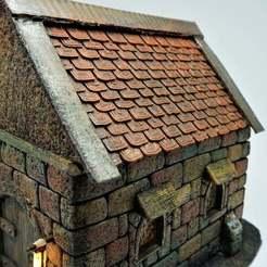 9.jpg Télécharger fichier STL gratuit Nouveaux toits (différentes tailles) pour les maisons D&D et les miniatures de marteau de chauffage 28mm • Modèle imprimable en 3D, Cuckoo