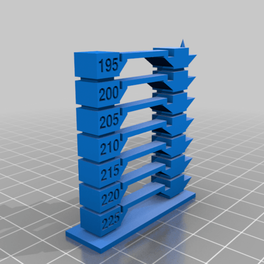 Download free 3D printer model My Customized Temperature Tower Version 2, BERTOKING