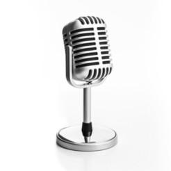 microfono-retro-aislado-sobre-fondo-blanco_39665-2.jpg Download STL file Matte Classic Microphone • 3D printer model, gmeolans