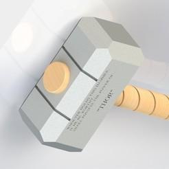 Download free STL file Thor hammer (Mjolnir) • 3D printable model, gadhiyavinay88