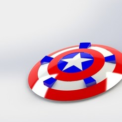 Untitled.JPG Download free STL file captain america shield • 3D print object, gadhiyavinay88