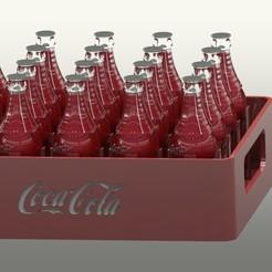 Download free STL file coca cola bottle rack • Model to 3D print, gadhiyavinay88