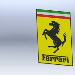 preview.JPG Download free STL file Ferrari symbol • Design to 3D print, gadhiyavinay88