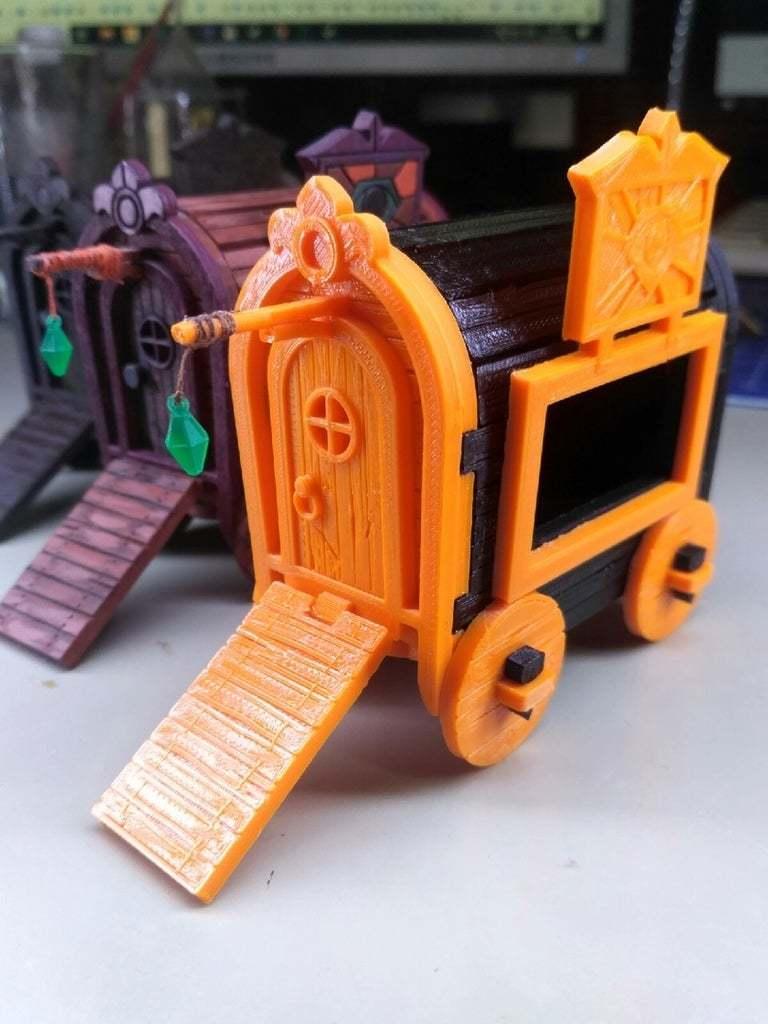 NcnmLJeQ-LY.jpg Download free STL file Gipsy Wagon 28 mm (Darkest Dungeon tribute) for 3D printing • 3D printer template, Alfarabius