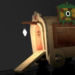 gipsyWagon.jpg Download free STL file Gipsy Wagon 28 mm (Darkest Dungeon tribute) • Template to 3D print, Alfarabius