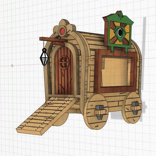 gipsyWagonmn1.jpg Download free STL file Gipsy Wagon 28 mm (Darkest Dungeon tribute) for 3D printing • 3D printer template, Alfarabius