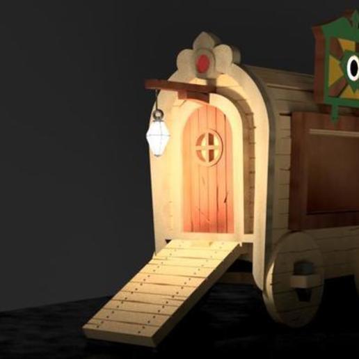 gipsyWagon8.jpg Download free STL file Gipsy Wagon 28 mm (Darkest Dungeon tribute) for 3D printing • 3D printer template, Alfarabius