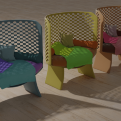 3 sillas jardin.png Download OBJ file Garden chairs • Object to 3D print, pipiripau0791