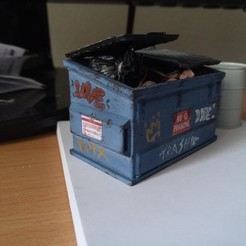 IMG_20200529_124616_6.jpg Télécharger fichier STL Diorama Accessory Benne à ordures • Plan pour impression 3D, attilatotalwar89