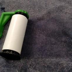 Rodillo_001.jpg Télécharger fichier STL Rouleau à cheveux et à peluches • Objet pour imprimante 3D, OccamProject