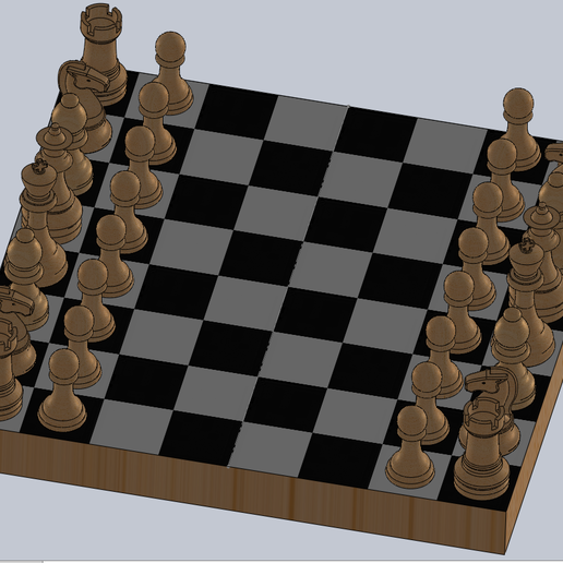 juego completo.PNG Télécharger fichier STL gratuit échecs complets • Plan pour imprimante 3D, montenegromateo111