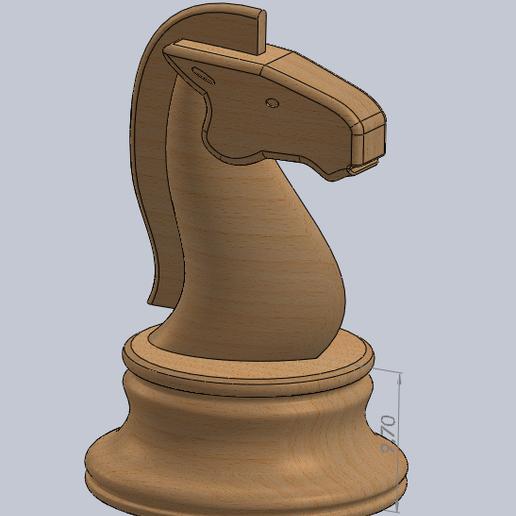 caballo.PNG Télécharger fichier STL gratuit échecs complets • Plan pour imprimante 3D, montenegromateo111