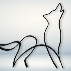 1 v1.jpg Télécharger fichier STL Décoration minimaliste du loup • Design pour impression 3D, NothingAtAll