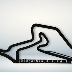 nurburgring v1.jpg Download STL file Nürburgring Race Track • 3D printable model, NothingAtAll