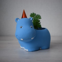 DSC_0294sdfsdf333.jpg Download STL file Hippo flower pot, planters • Object to 3D print, siipost1